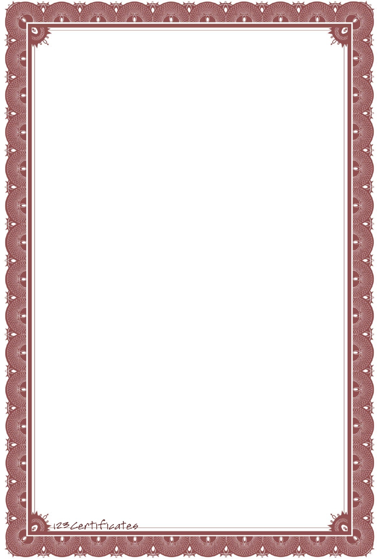 Great Certificate Border. Download Portrait Jpg File With Certificate Borders Free Download