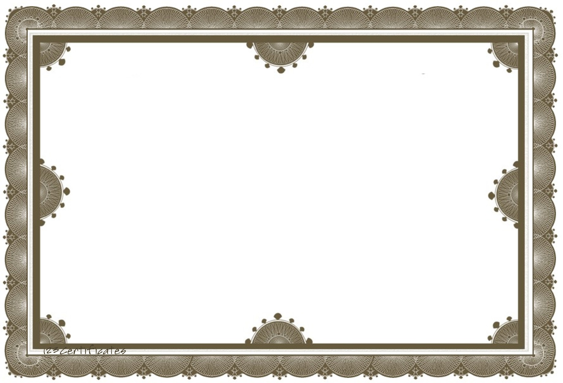 Free Award Certificate Border Templates