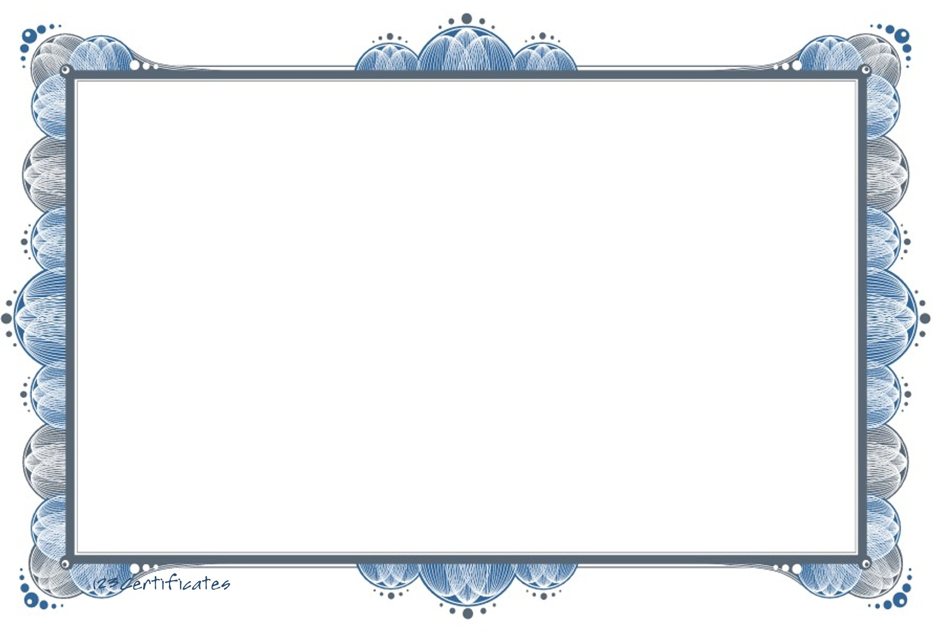 Free certificate borders to download certificate templates for